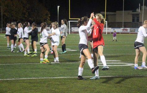 Girls soccer underclassmen celebrate Seniors