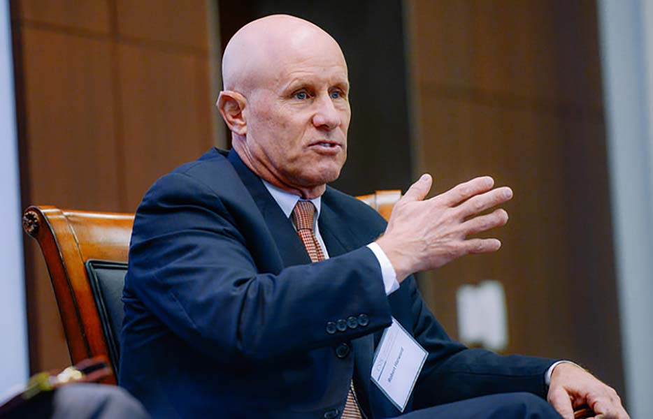Harward discusses the position of National Security Adviser with Donald Trump's team.