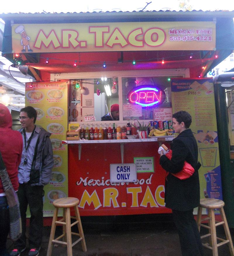 Mr. Taco provides delectable, well presented food along with a welcoming environment