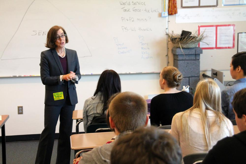Secretary of State, Kate Brown Visits West Linn High School