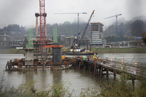 The new bridge has been under heavy construction sense 2010 and will not be completed until 2015.  The job bridge has created many jobs for the community and is Americas largest car-less commuting bridge.