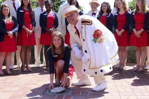 Senior Emma Waibel, 100th Rose Queen, visits the Pendleton Round-Up this weekend