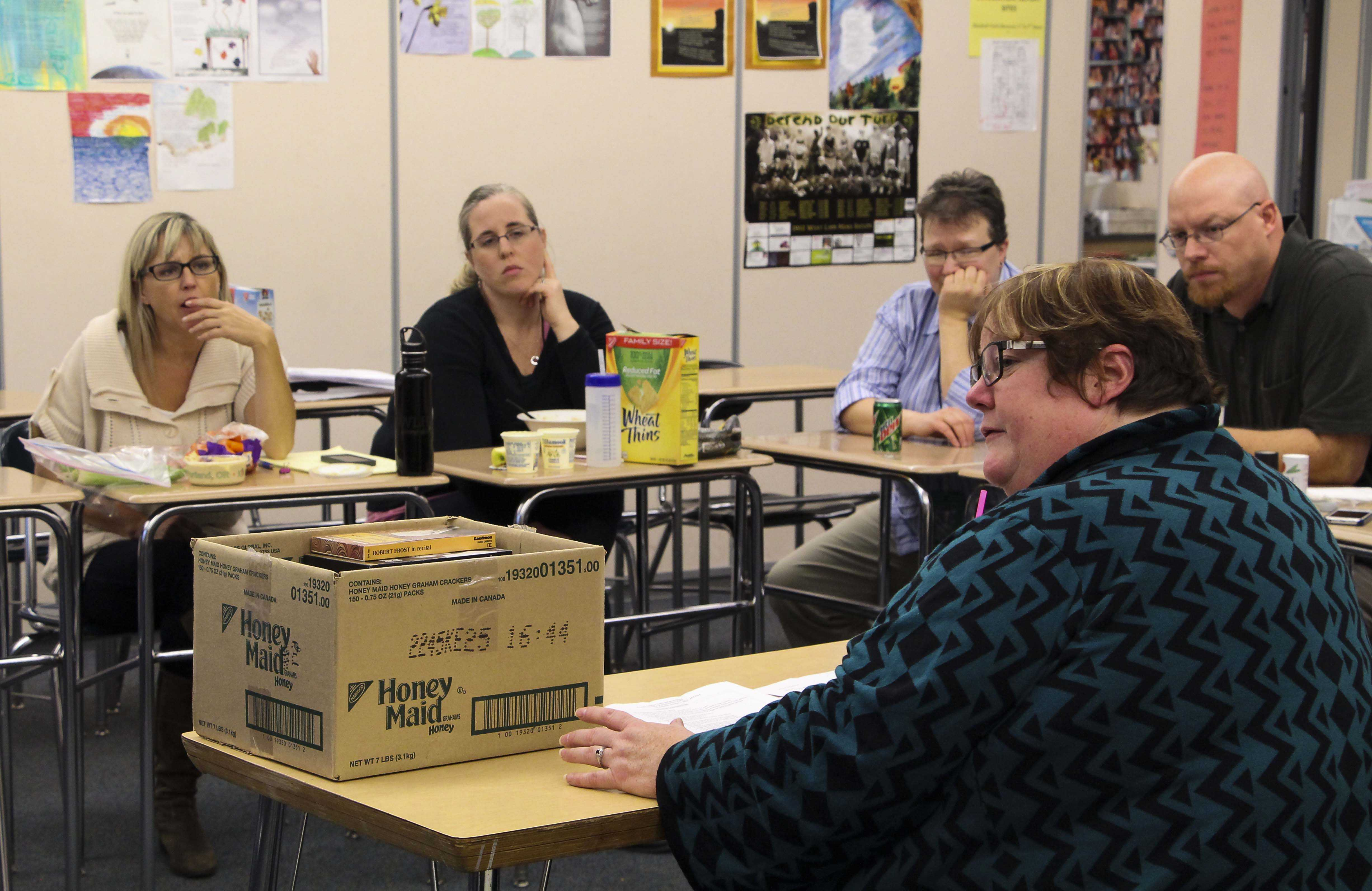 English teachers meet to discuss new changes to the WLHS's english classes due to Common Core. These standards provided to the U.S. educational systems have affected the school in many departments.