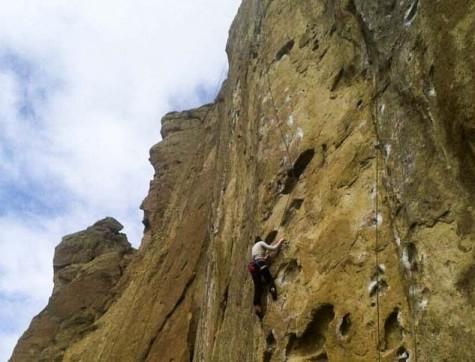 Bella Montgomery, junior, climbs her way to the top