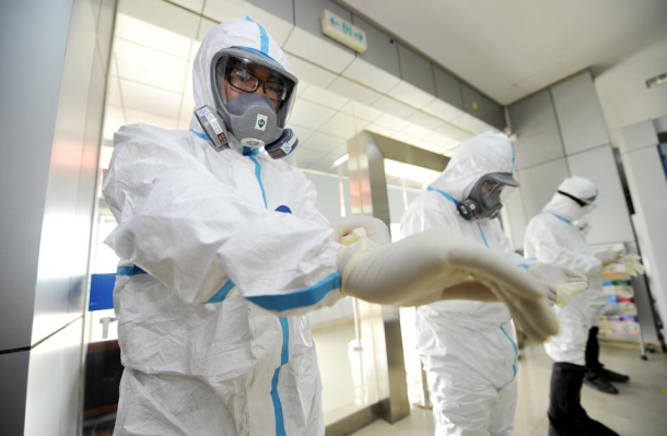 Ebola health-care workers wear hazmat suits to protect themselves from the disease. There is currently no evidence of Ebola in Oregon.
