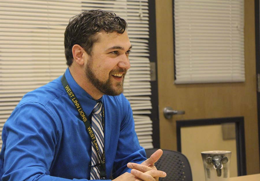Newly+named+principal%2C+Kevin+Mills%2C+was+introduced+to+the+staff+this+morning+to+take+over+for+Lou+Bailey%2C+outgoing+principal.+Mills+will+begin+as+principal+in+July.