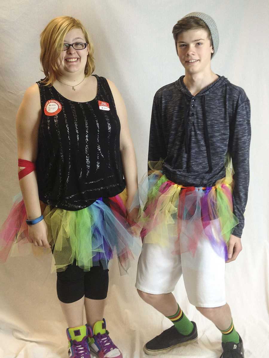 Ashlyn Miller-Sanders, junior, and her cousin, Alec Tompkins, freshman, attended Polar Bear Plunge on Feb. 2. Everyone in their families wore brightly colored tutus to spread awareness. Together they raised $1,040 for Special Olympics Oregon.