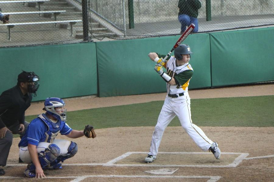 Brayden+Pene%2C+junior%2C+bats+against+McNary+on+March+18.+Against+Tualatin+he+hit+a+homerun+in+two+straight+games+helping+to+lead+the+Lions+to+a+5-2+win.+