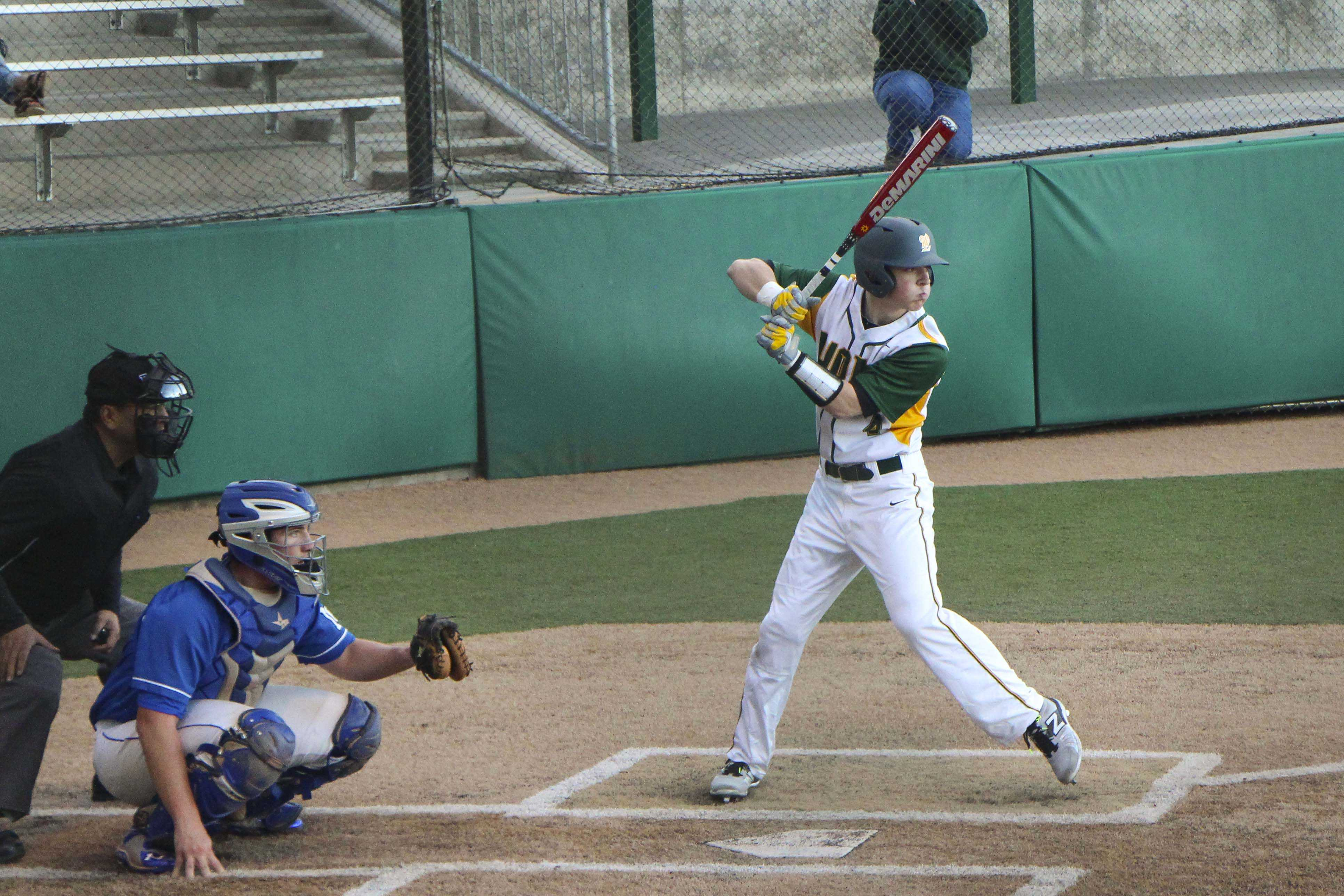 Brayden Pene, junior, bats against McNary on March 18. Against Tualatin he hit a homerun in two straight games helping to lead the Lions to a 5-2 win.