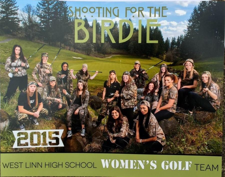 Varsity+Girls+Golf+will+continue+tournaments+until+May+20.+The+West+Linn+Girls+Varsity+Golf+team+adapted+to+a+change+in+the+program.+