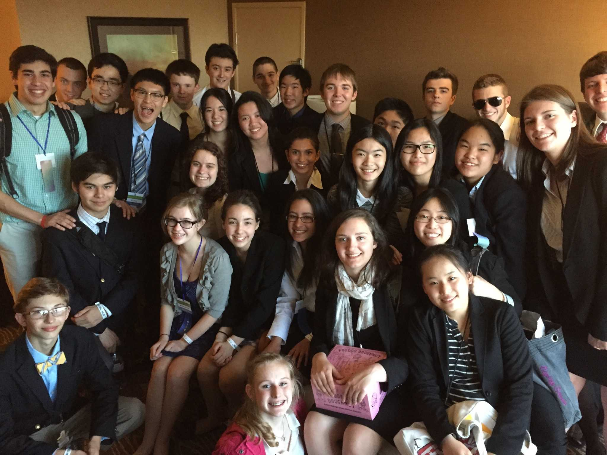 Model United Nations participants prepare for a conference held in Eugene, April 9-11. Students represented either Sierre Leone or Australia in topics that are currently having an effect on the countries' citizens.