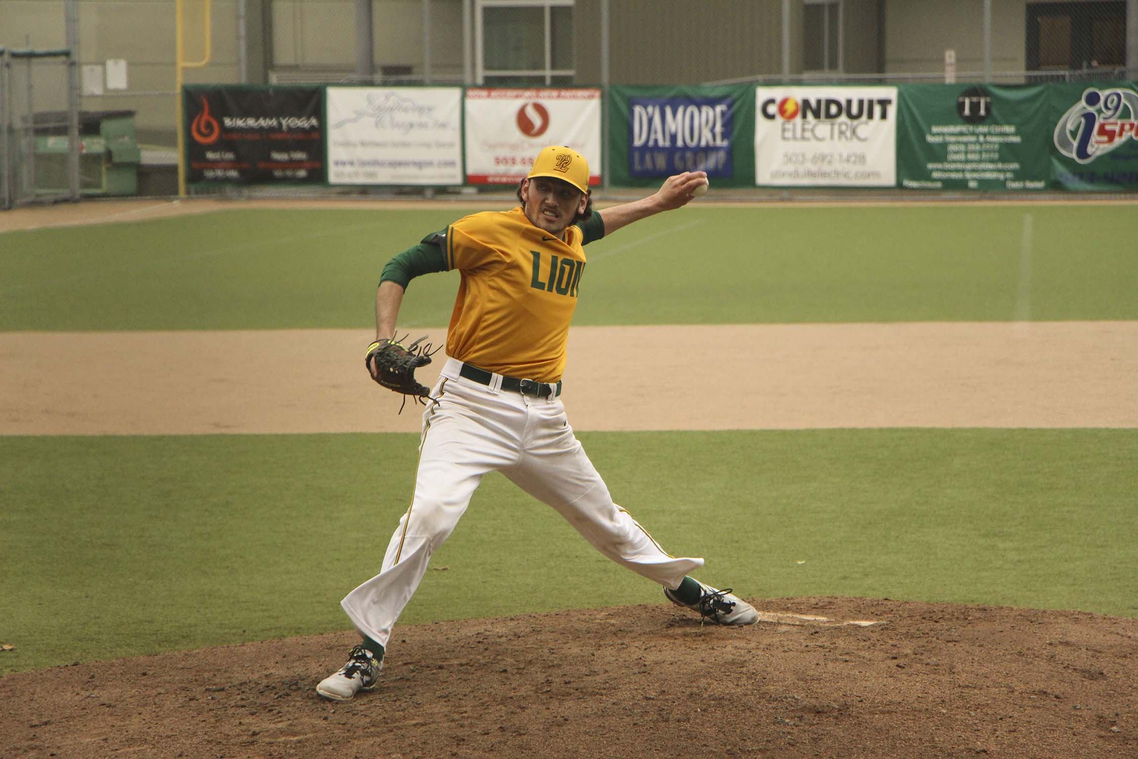 Jordan Dailey, senior, gave up no runs as he pitched six and two-thirds innings for the Lions, in a 1-0 win over McMinnville. The Lions next play Sheldon in the State Championship game, Saturday 5 p.m. at the  Volcanoes Stadium in Salem.
