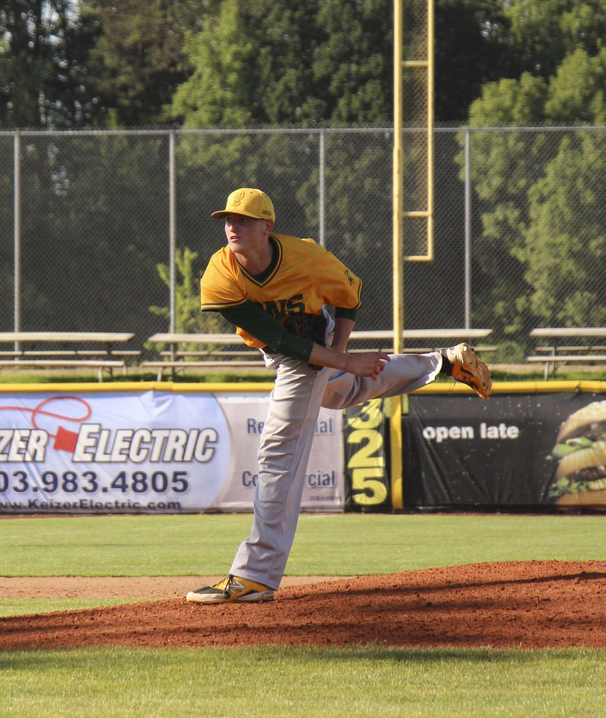 Karsen Lindell, Class of 2015, pitched a complete game for the Lions, but it still wasn't enough as the fell in the State Championship game to Sheldon 2-1.
