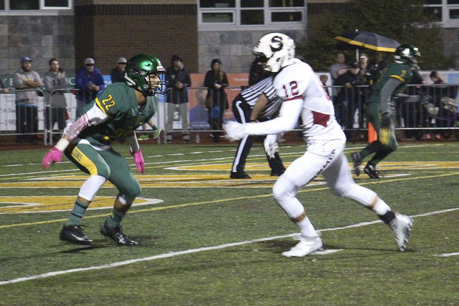 No. 2 West Linn faced No. 3 Sherwood on Oct. 9. Sherwood defeated West Linn (39-36), pulling ahead with a touchdown in the last four minutes.