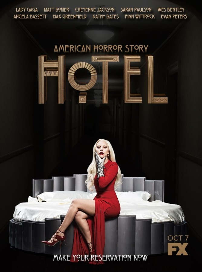 """American Horror Story"" returns for its sixth season; ""Hotel."" The new season stars the recurring main cast, with the exception of Jessica Lange, and has a completely new gruesome storyline about an eerie hotel."