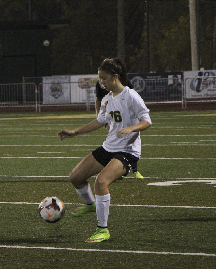 Midfielder Natalie Lin, senior, drives downfield in a 1-0 win over Southridge. The Lions next game is away at Lake Oswego, Monday at 7 p.m.