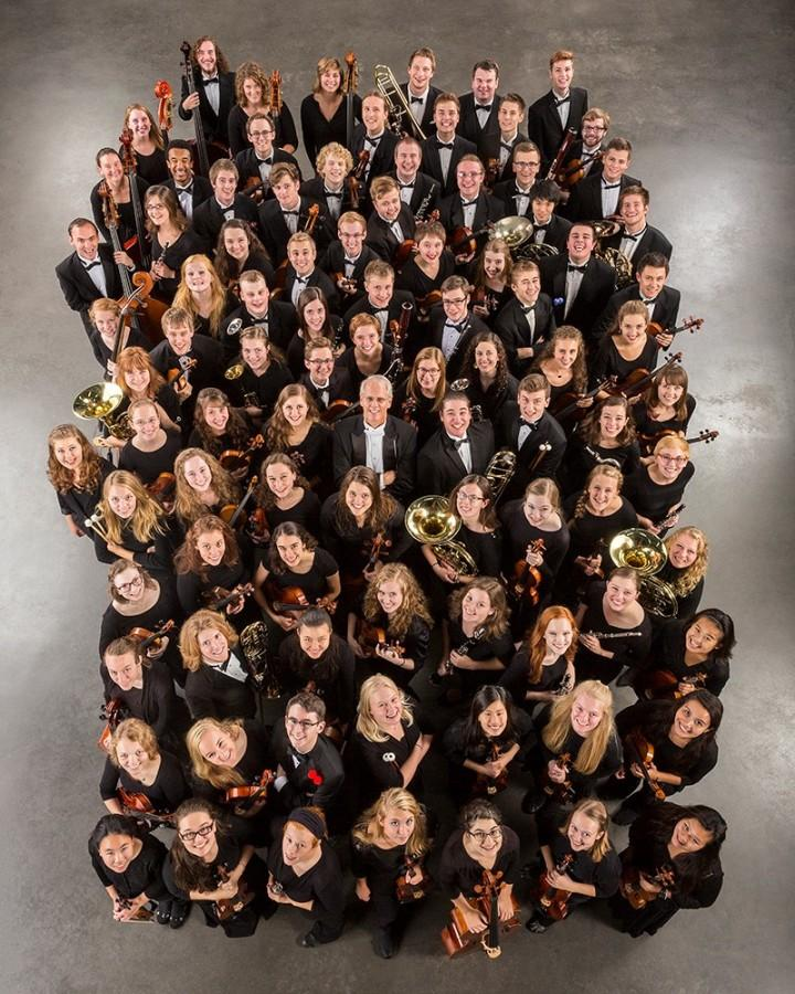 The+2015-2016+St.+Olaf+College+Symphony+Orchestra+stuns+the+audience+during+their+performance.+This+world+famous+orchestra+performed+at+West+Linn+high+school+on+Oct.+16.%0A