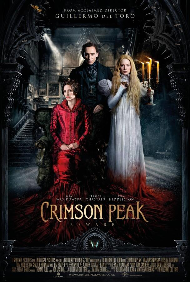 "New thriller directed by Guillermo del Toro attracts attention to movie-goers. ""Crimson Peak"" follows Edith Cushing and her mysterious new husband Thomas Sharpe."