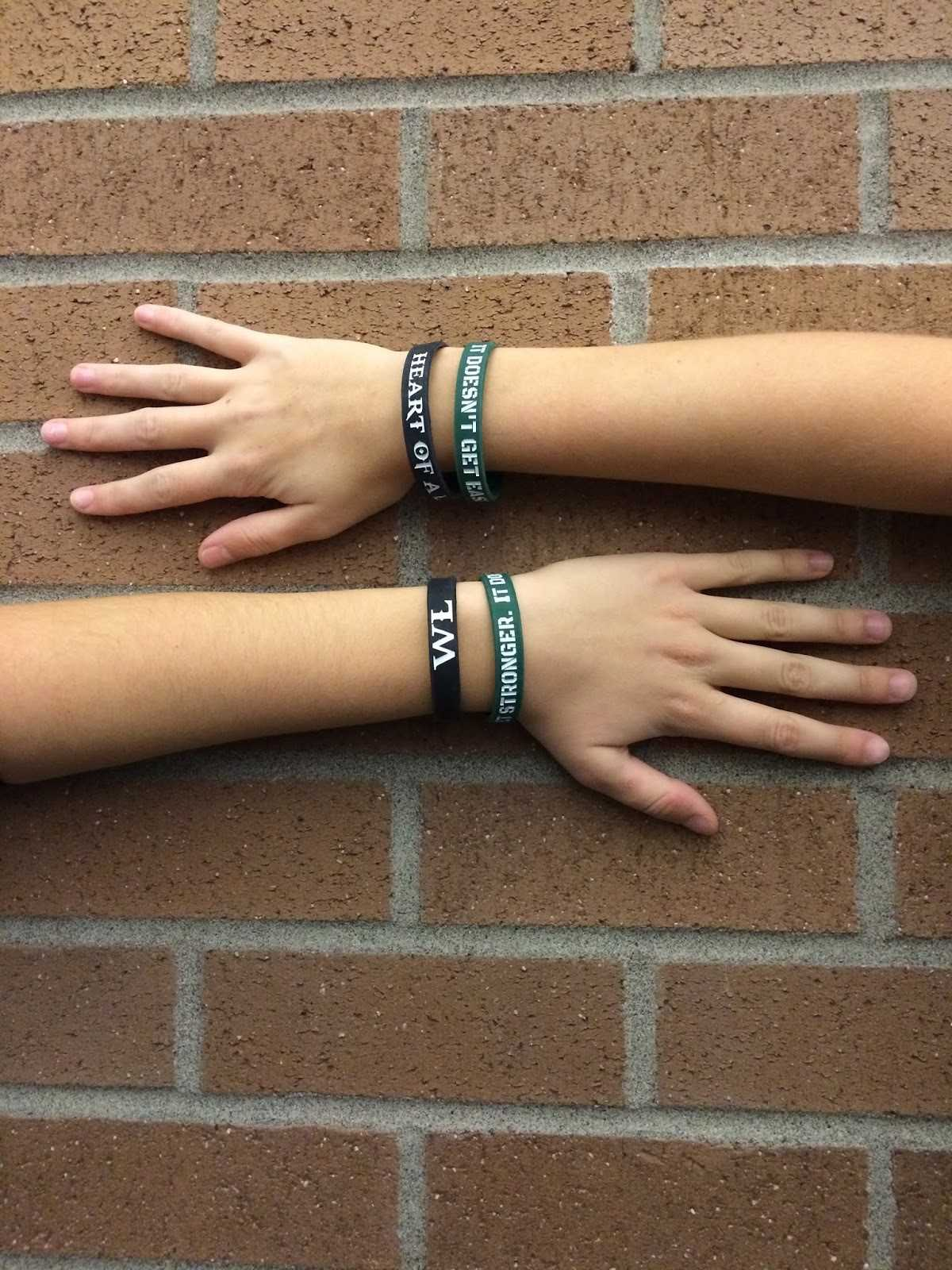 Students support their high school softball team by wearing new West Linn bracelets. The WLHS softball team is selling bracelets as a fundraiser for their upcoming season.