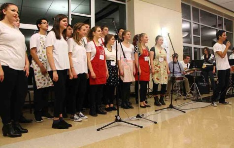 The choirs and bands meet up for a night of music and Italian food with family and friends.