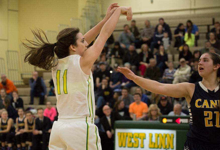 The girls varsity basketball team suffered a 61-87 loss against Canby. Brooke Landis, sophomore, describes the main focus the team had that night.