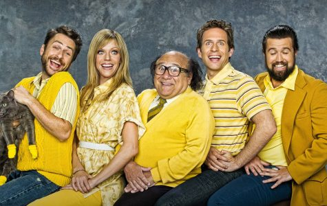"The cast of ""It's Always Sunny"" (from left to right): Charlie Day, Kaitlin Olson, Danny DeVito, and creators Glenn Howerton and Rob McElhenney."