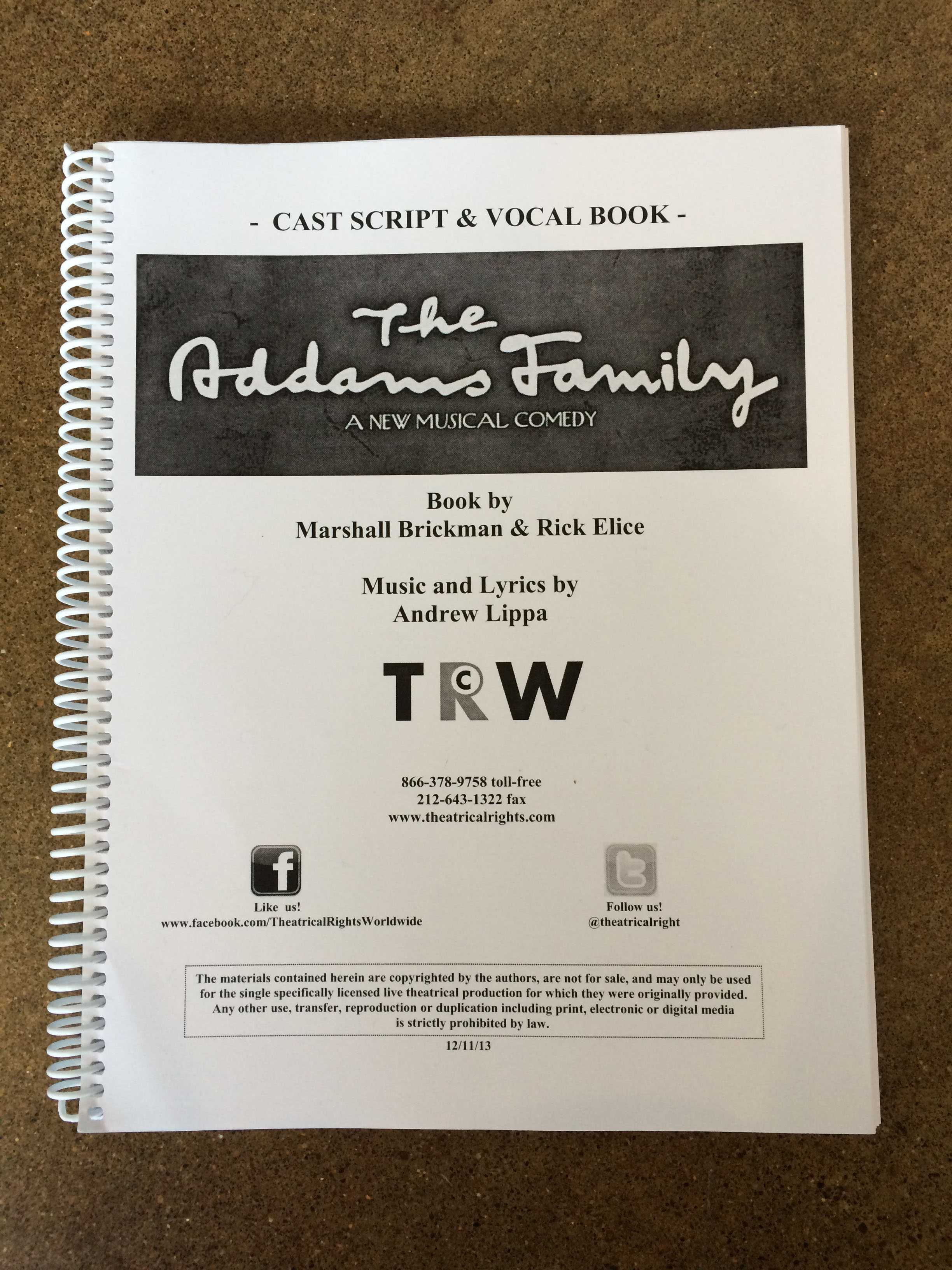 """""""The Addams Family"""" is this year's fall musical, and the cast is already underway with rehearsals. Opening night will be Nov. 3 in the Performing Arts Center."""