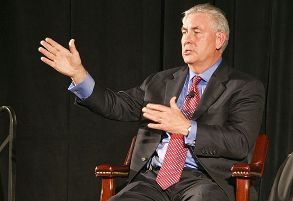 Rex Tillerson in 2009. By William Munoz, via Flickr, used under Creative Commons license.