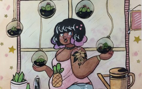 """The highest award at the regional level is a Gold Key, which Chaney Kuepker earned in Drawing and Illustration with """"The Plant Witch."""" Her piece is now eligible for a national Gold Medal."""