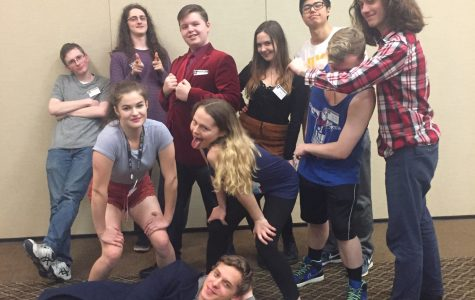 The Junior State of America club at the Red Lion Inn during Winter Congress last weekend