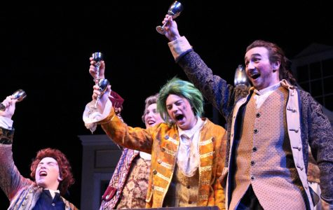 Starring senior Michael Jonsson as drunkard Sir John Brute, The Provoked Wife is a a 17th century play filled with innuendos, '80s hits and wigs bigger than ever thought possible.