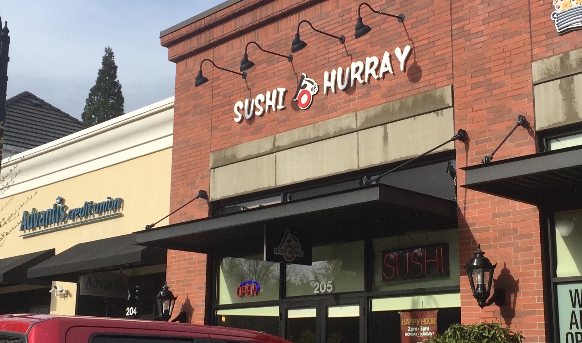 The newly renovated building that used to house Sushi Boat, now showing off a fresh new look.