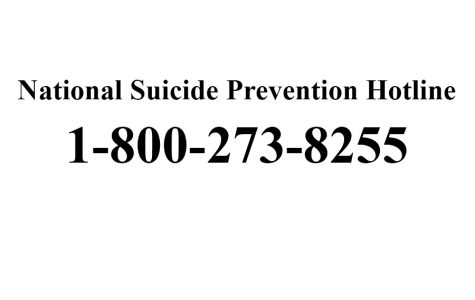 The National Suicide Hotline is a toll free number available 24 hours a day.