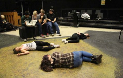 "As Shorts rehearsals are finishing up, one group of actors prepare for ""If Hamlet had been a Reading"", directed by Linda Snyder senior. Since cast lists were posted on April 7, students have been preparing every day after school with their groups. ""The rehearsal process has been really fun,"" Kierra Kohen, freshman, said. ""In rehearsal we run the short and do character work. To rehearse at home, I read my lines and solidify the blocking."""