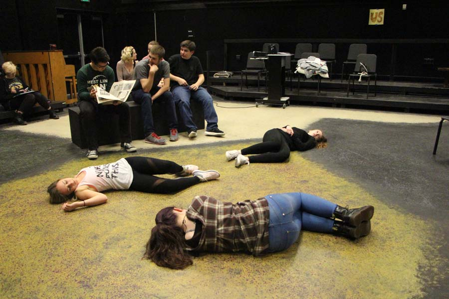 As+Shorts+rehearsals+are+finishing+up%2C+one+group+of+actors+prepare+for+%E2%80%9CIf+Hamlet+had+been+a+Reading%E2%80%9D%2C+directed+by+Linda+Snyder+senior.+Since+cast+lists+were+posted+on+April+7%2C+students+have+been+preparing+every+day+after+school+with+their+groups.+%E2%80%9CThe+rehearsal+process+has+been+really+fun%2C%E2%80%9D+Kierra+Kohen%2C+freshman%2C+said.+%E2%80%9CIn+rehearsal+we+run+the+short+and+do+character+work.+To+rehearse+at+home%2C+I+read+my+lines+and+solidify+the+blocking.%E2%80%9D