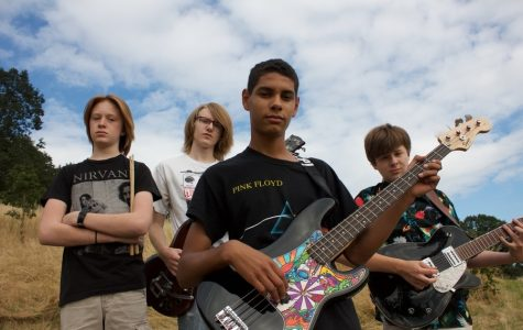 The group, Fadd9, focuses on performing punk rock music. Fadd9 formed in Jan. 2015.  From left to right: Bryce Cumpston, junior, Beck Cheevers, 2016 graduate, Gabe Armattoe, junior and Rory Cheevers, sophomore.