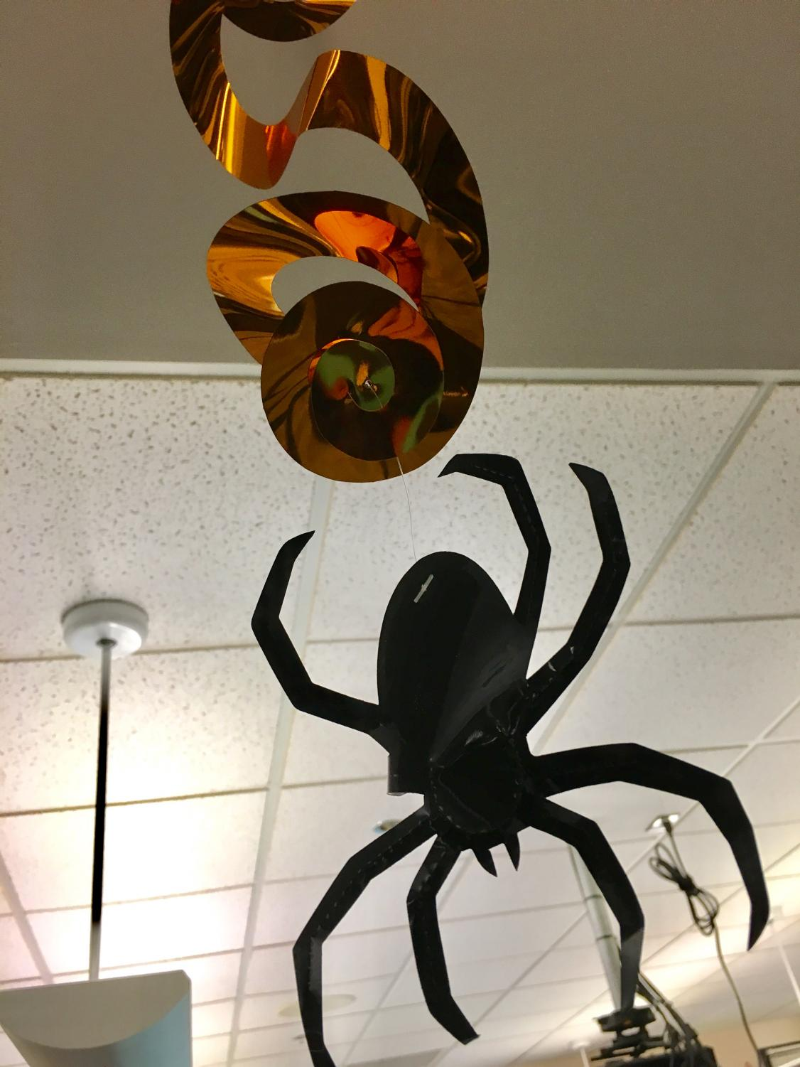 Decorations are out for Halloween. Students share their plans for Halloween night.