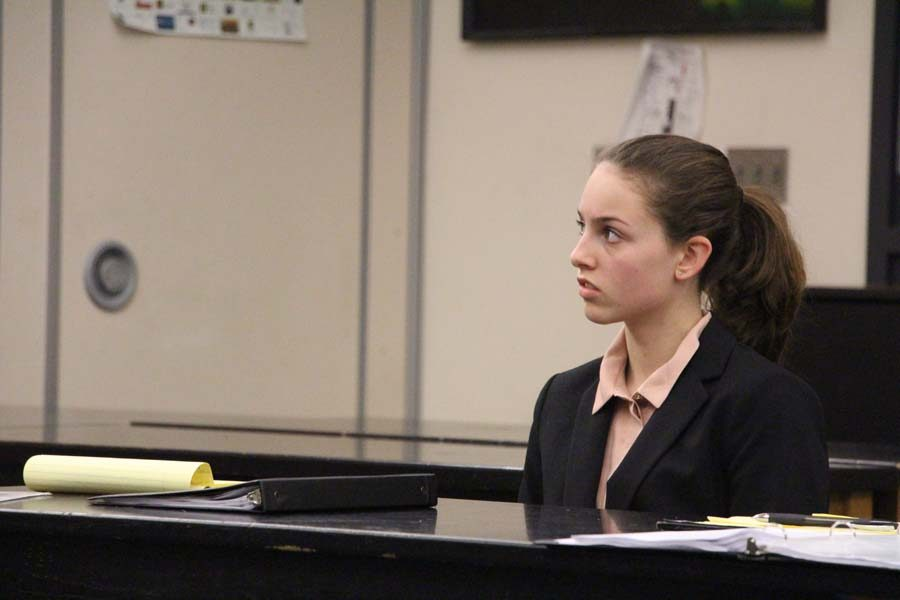 Maddie+Sand%2C+junior%2C++participated+in+mock+trial+last+year.