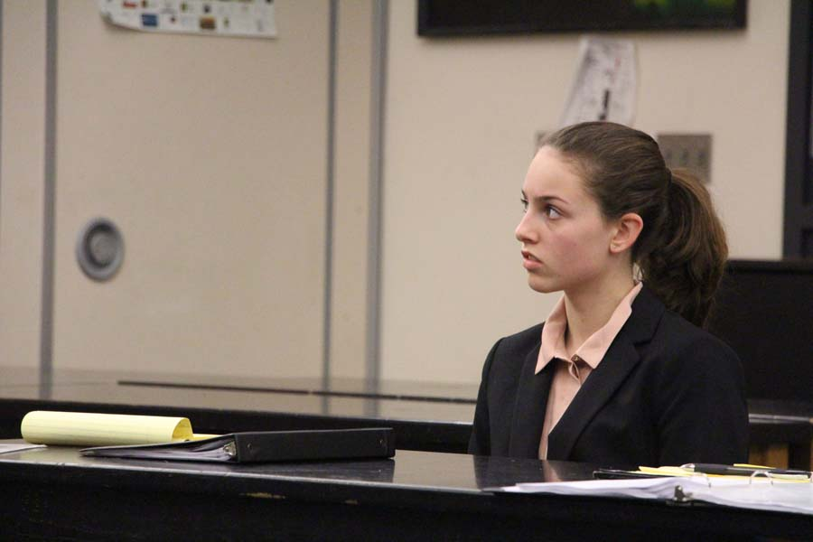 Maddie Sand, junior,  participated in mock trial last year.
