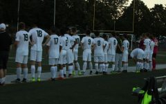 West Linn prepares for game against Grant High School. Final score was 2-1.