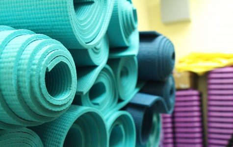 Minimalist approach: Unlike  other sports that require a multitude of equipment, yoga only requires three things,  all supplied by the class itself. The benefits of the class are obtained simply by using purple blocks, a yoga mat, and a tension band. All students are required to bring are themselves, comfortable clothes, and good attitudes.