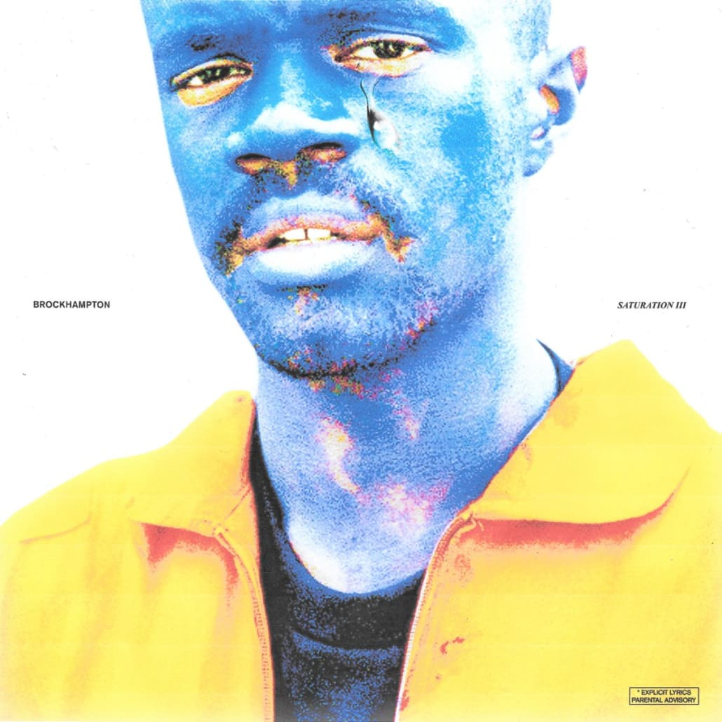 "Feeling Blue: The cover of ""Saturation III"" features rapper Ameer Vann, painted blue again, similar to the cover of the first ""Saturation."" Many of the group's videos also feature the entire group painted blue. The idea behind BROCKHAMPTON's repeated use of blue face paint is to give the illusion of an over-saturation of color."