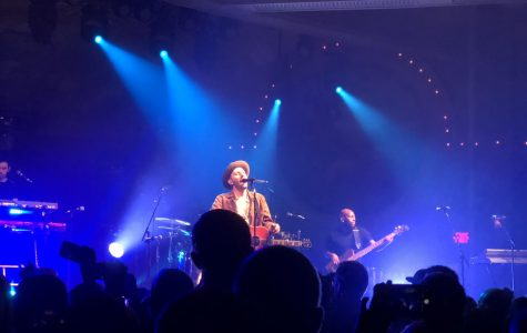 Oregon native Mat Kearney performs at the Crystal Ballroom in Portland, Ore. on Feb. 22. Kearney put on an amazing show despite some major challenges the day of the show.