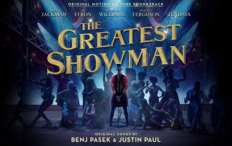 "Photo courtesy of 'The Greatest Showman' official motion picture soundtrack.   The poster for the ""The Greatest Showman"" mirrors the look and feel of the film with Barnum (Jackman) standing front and center under the spotlight, mimicking the public eye on Barnum and his new and unusual exhibition."
