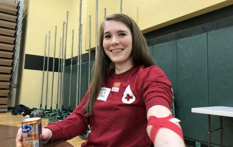 Lilly Burnett, vice president and senior of the Red Cross club, has donated for three years.