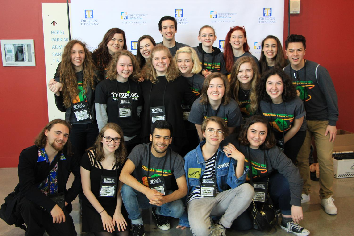 At the Thespian State Festival, Thespian Troupe 1915 was well represented in a variety of categories. By the end of the weekend, seven awards were handed out to the Troupe along with many lasting memories.