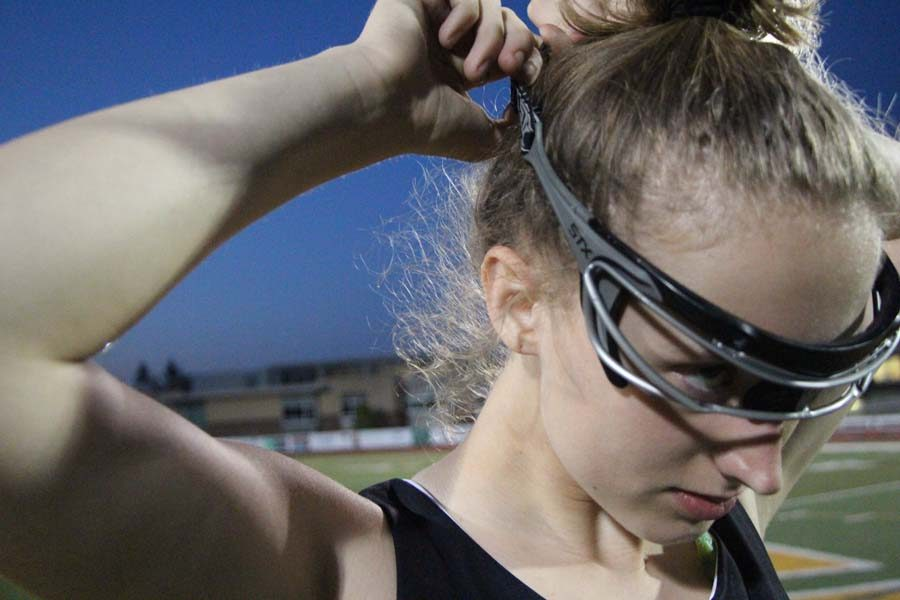 While boys lacrosse wear protective helmets, until 2017 girls were only allowed to wear headgear. In girls lacrosse, they aren't allowed to attack, so they don't wear helmets or pads. Traditionally, only goalies wear helmets, and goalies have the lowest concussion rate of all girls lacrosse players since helmets help prevent stick and ball concussions. Still, yet women's lacrosse ranks second only to football in concussions according to a 2015 study.