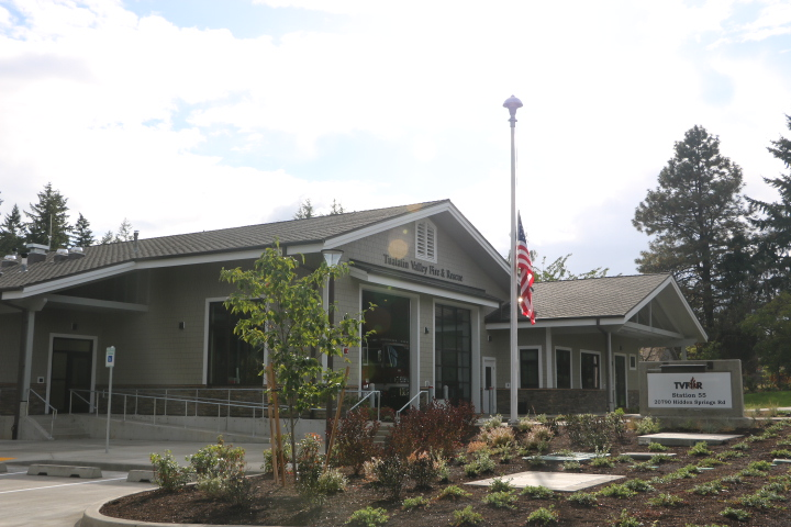 On 9/11 an event was held at the brand new Tualatin Valley Fire and Rescue station #55 to honor our first responders.