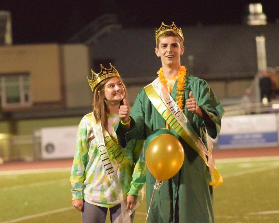 Homecoming+Queen%2C+Aubrey+Wagy+and+King%2C+Clint+Berggren+got+crowned.
