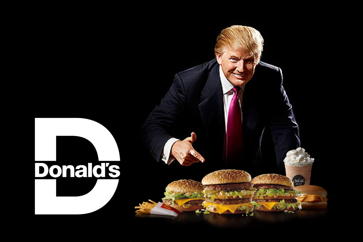 Trump in a new ad for the recently rebranded fast food chain